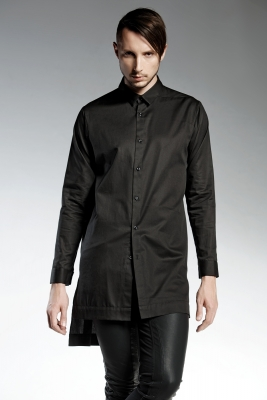 STARLING BLACK | limited edition Long cotton man's shirt