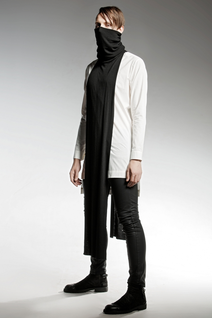 STARLING WHITE   Limited edition Long cotton shirt