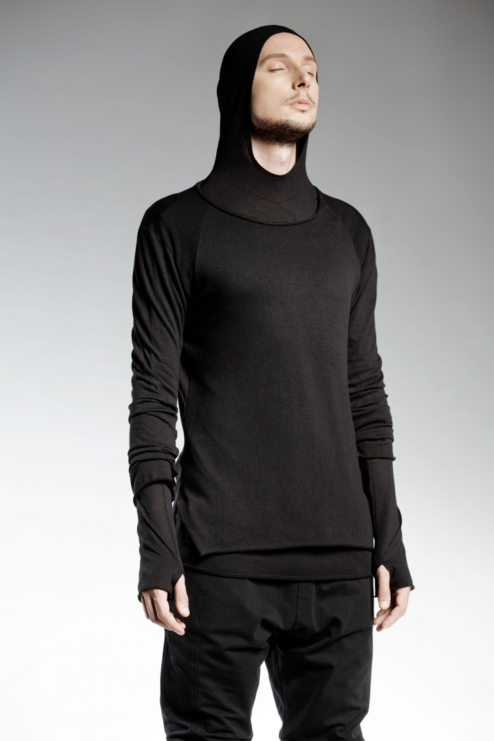 TARO | black ripped blouse with futuristic street look